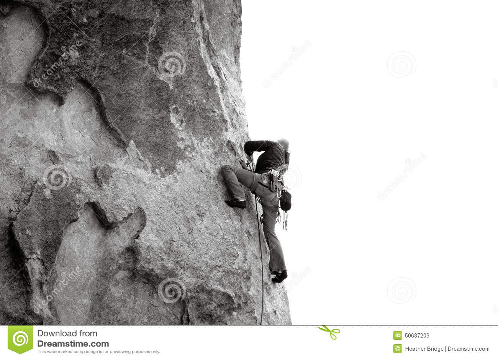 La roche s élevante de noeuds ropes deux
