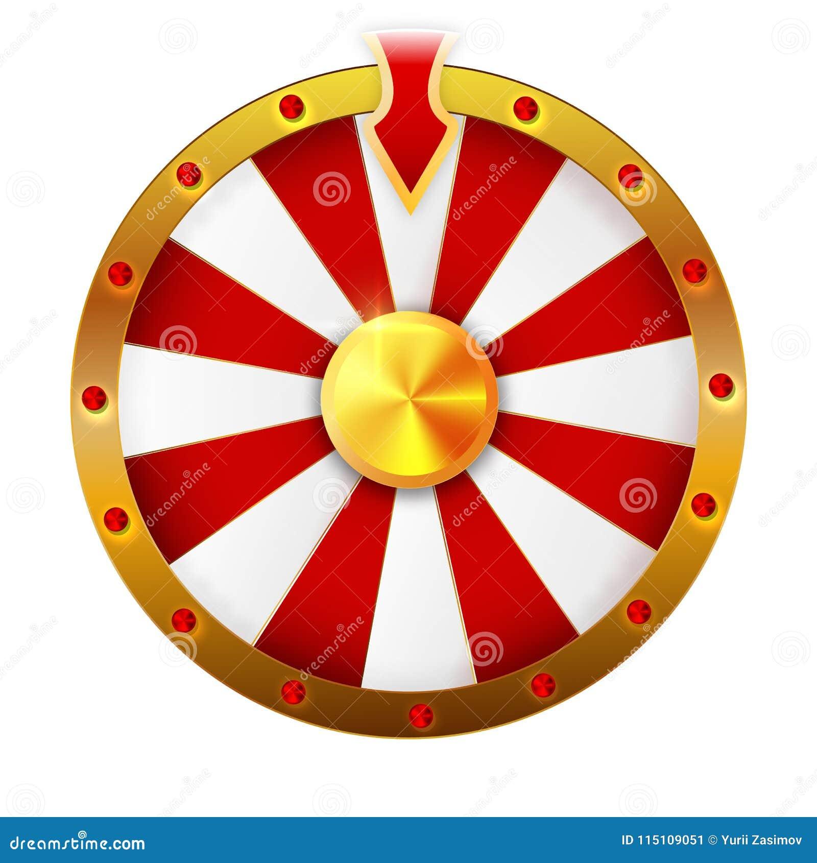 La roue de la fortune a isolé l objet de vecteur sur le fond blanc