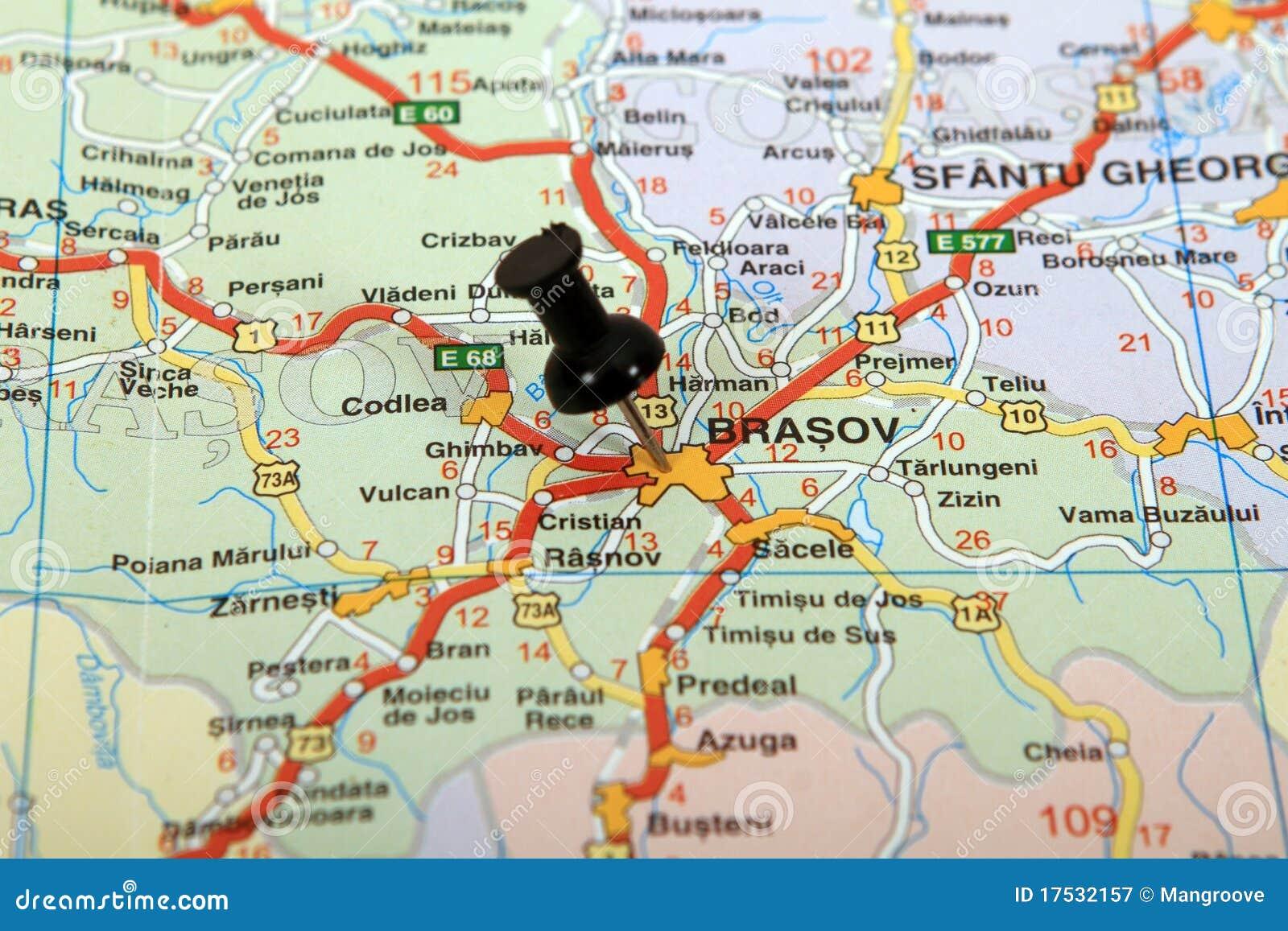 La Roumanie : Carte De Brasov Photographie stock libre de droits - Image: 17532157