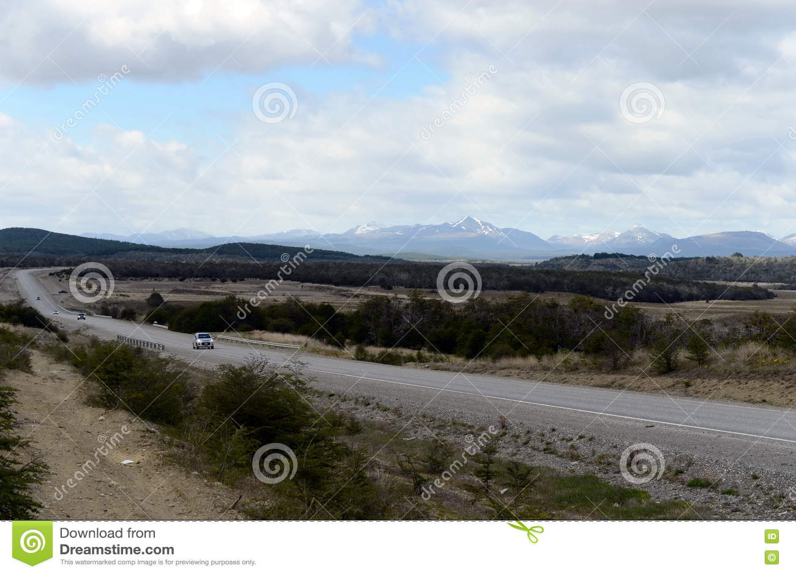 La route de Rio Grande à Ushuaia