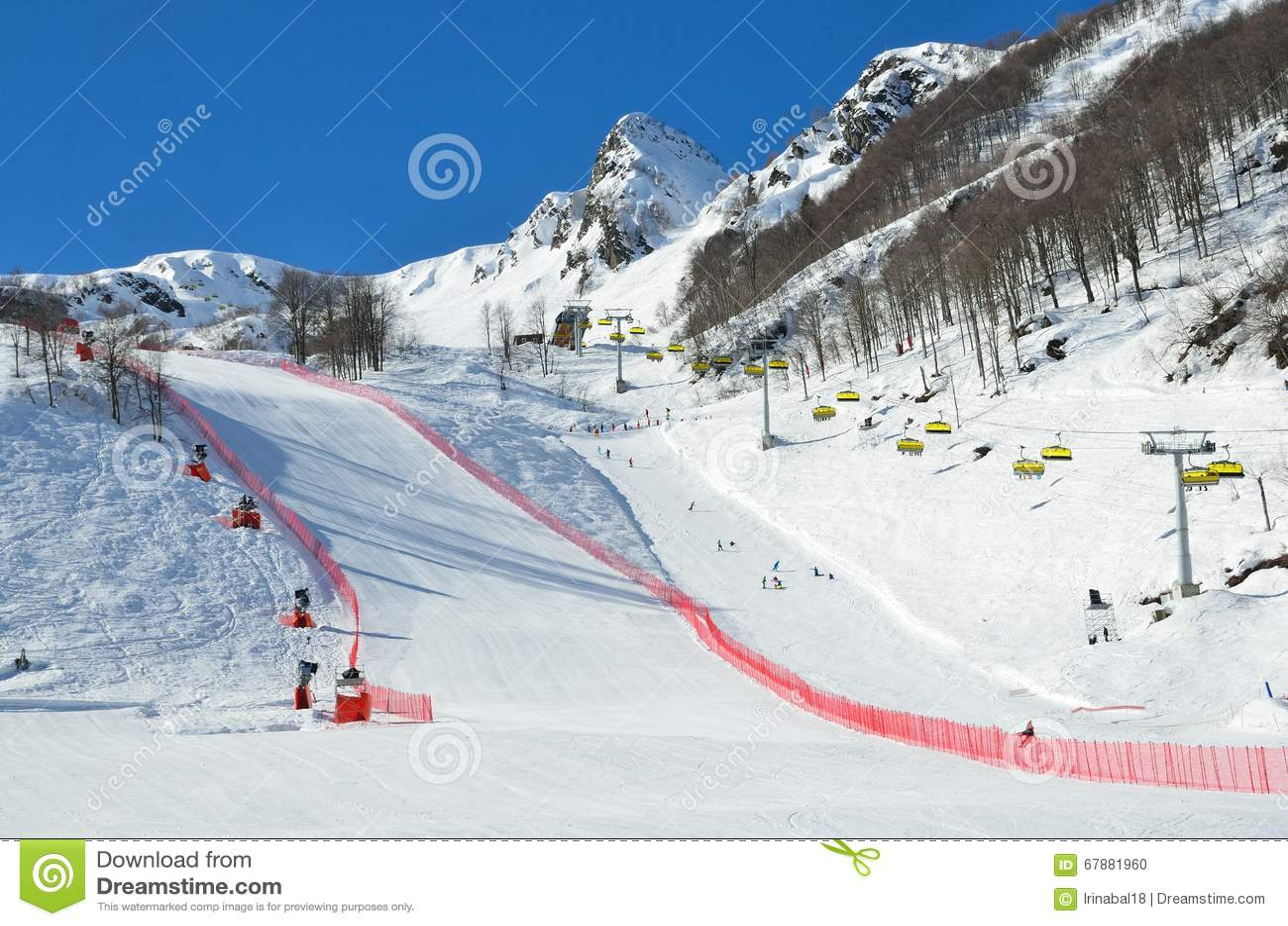 La Russie, Sotchi, les pentes de la station de sports d hiver Rosa Khutor