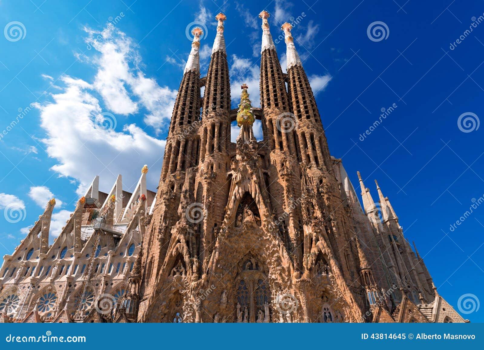 La Sagrada Familia - Barcellona Spagna di Expiatori de del tempio