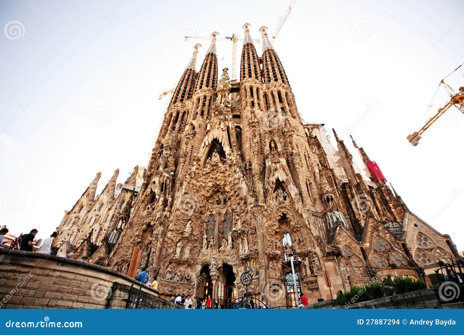 La Sagrada Familia In Barcelona, Spain Editorial Stock ...