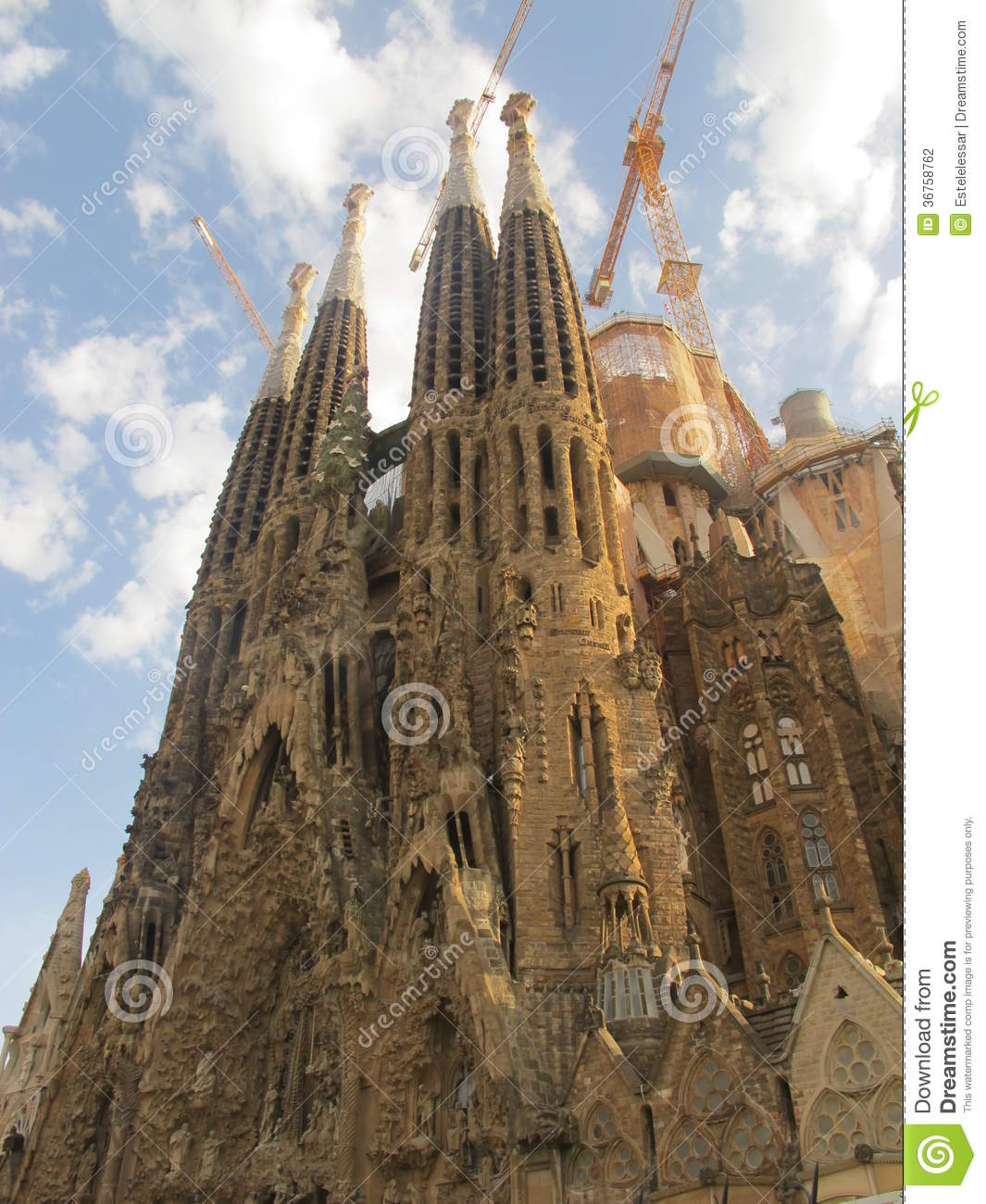 La Sagrada Familia And The Sky Stock Photo Image Of Travel