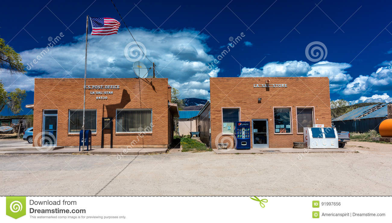 La Sal Utah US Post Office Zip Code  A Small Town In The - Us zip code la