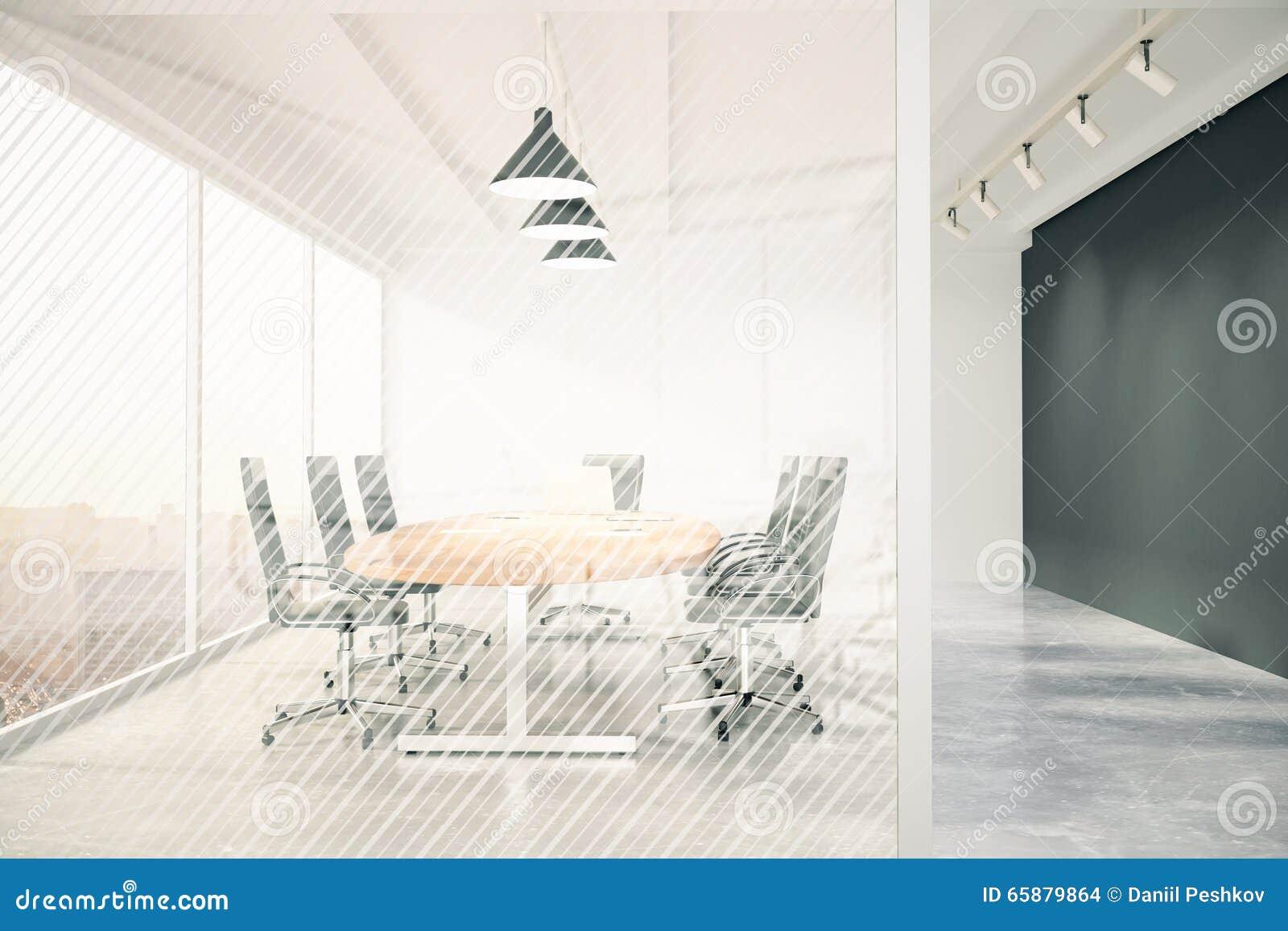 La Sala De Conferencias Moderna Con Los Muebles Pizarra Y  # Muebles Pizarra