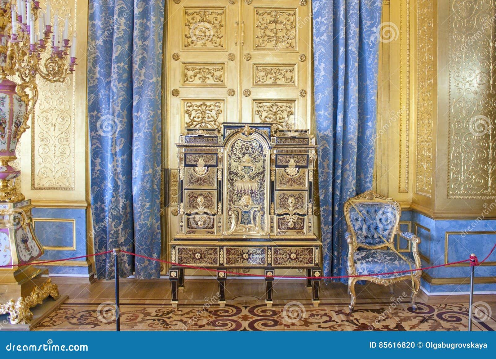 La sala de estar de oro de la ermita del palacio del for Sala de estar palacio