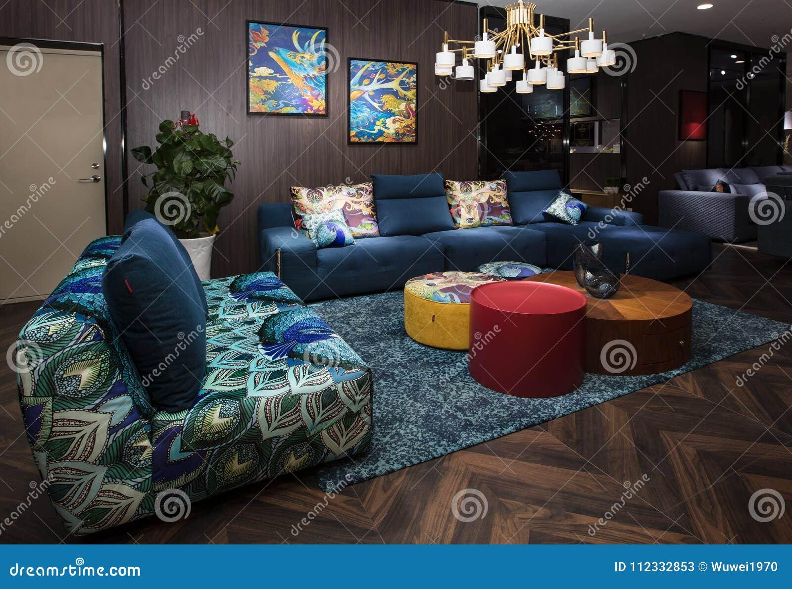La sala de estar de familias chinas modernas