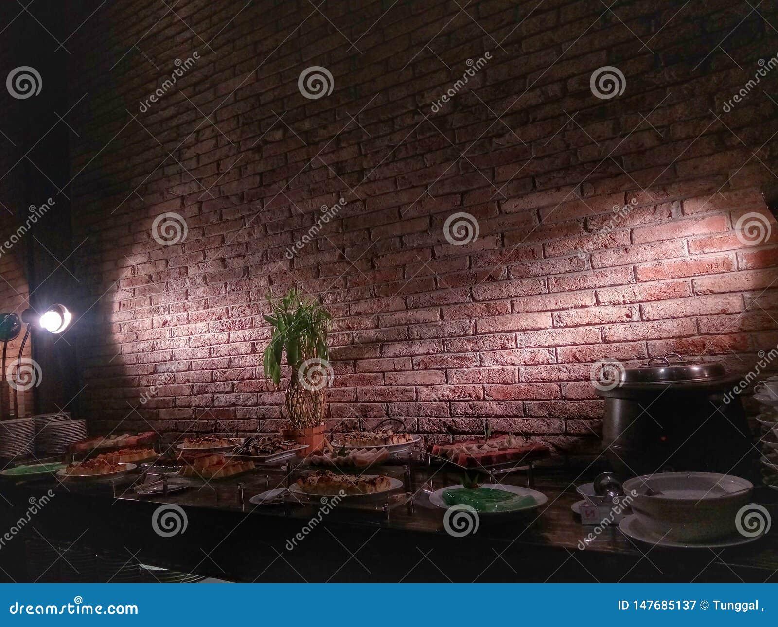 La salle à manger est très romantique