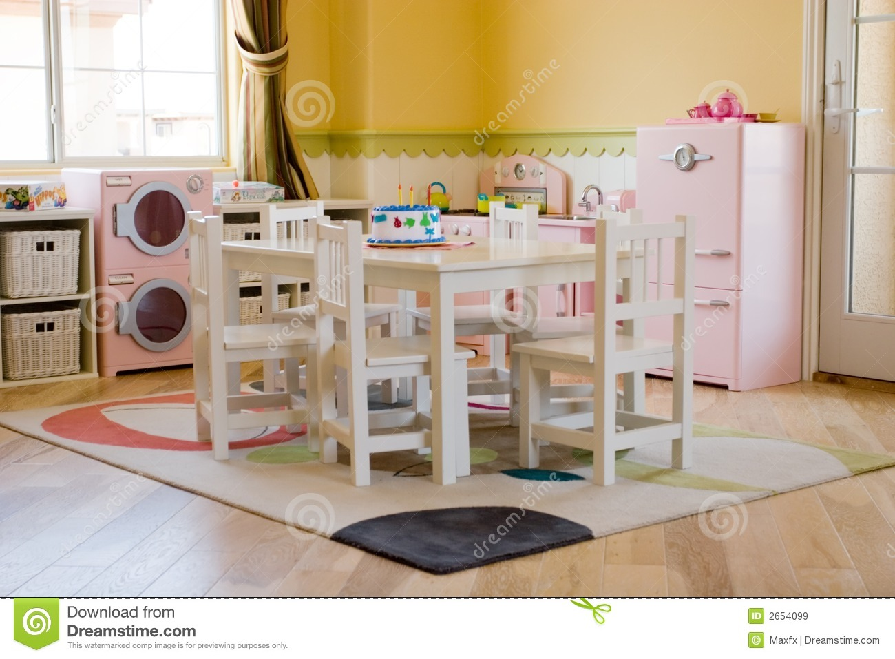 la salle de jeux des enfants image stock image 2654099. Black Bedroom Furniture Sets. Home Design Ideas