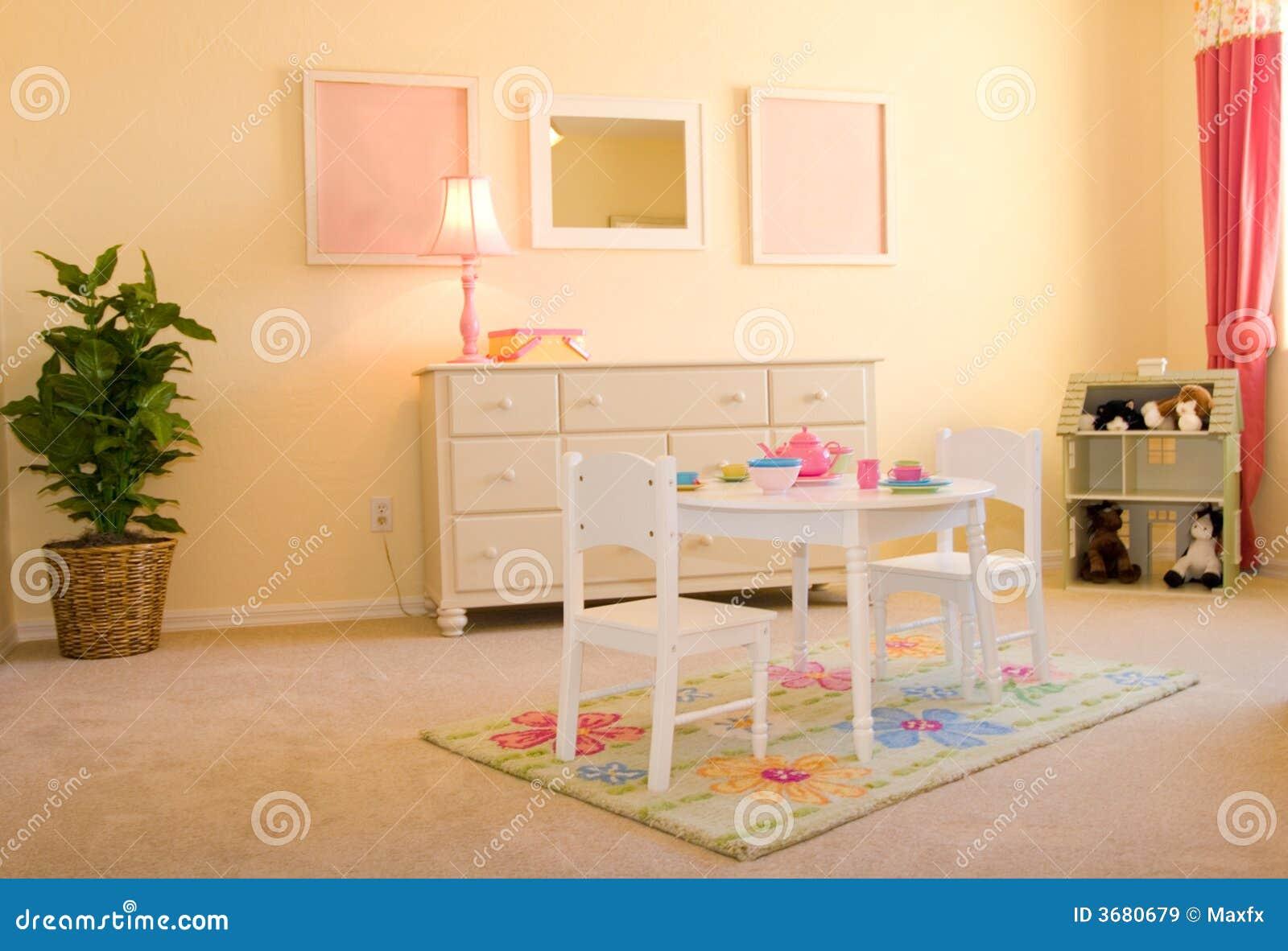 la salle de jeux des enfants images libres de droits. Black Bedroom Furniture Sets. Home Design Ideas