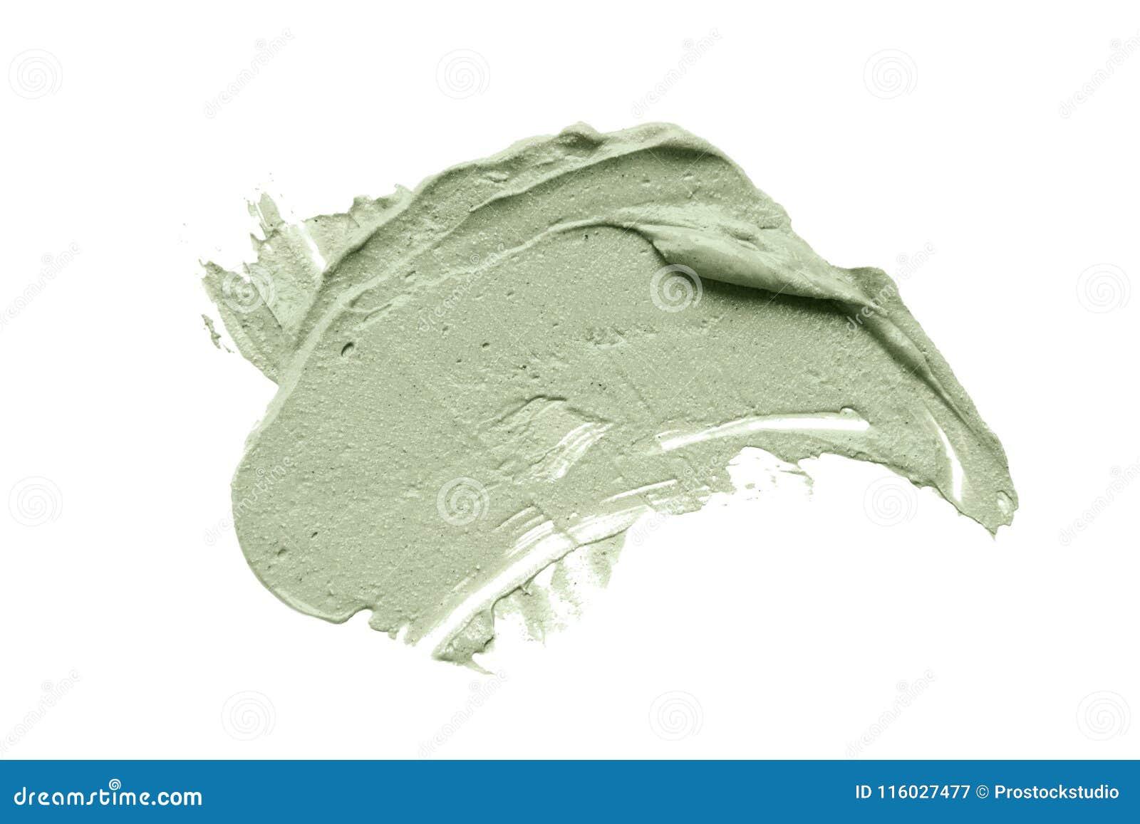 La sbavatura facciale della maschera dell argilla blu su bianco ha isolato il fondo