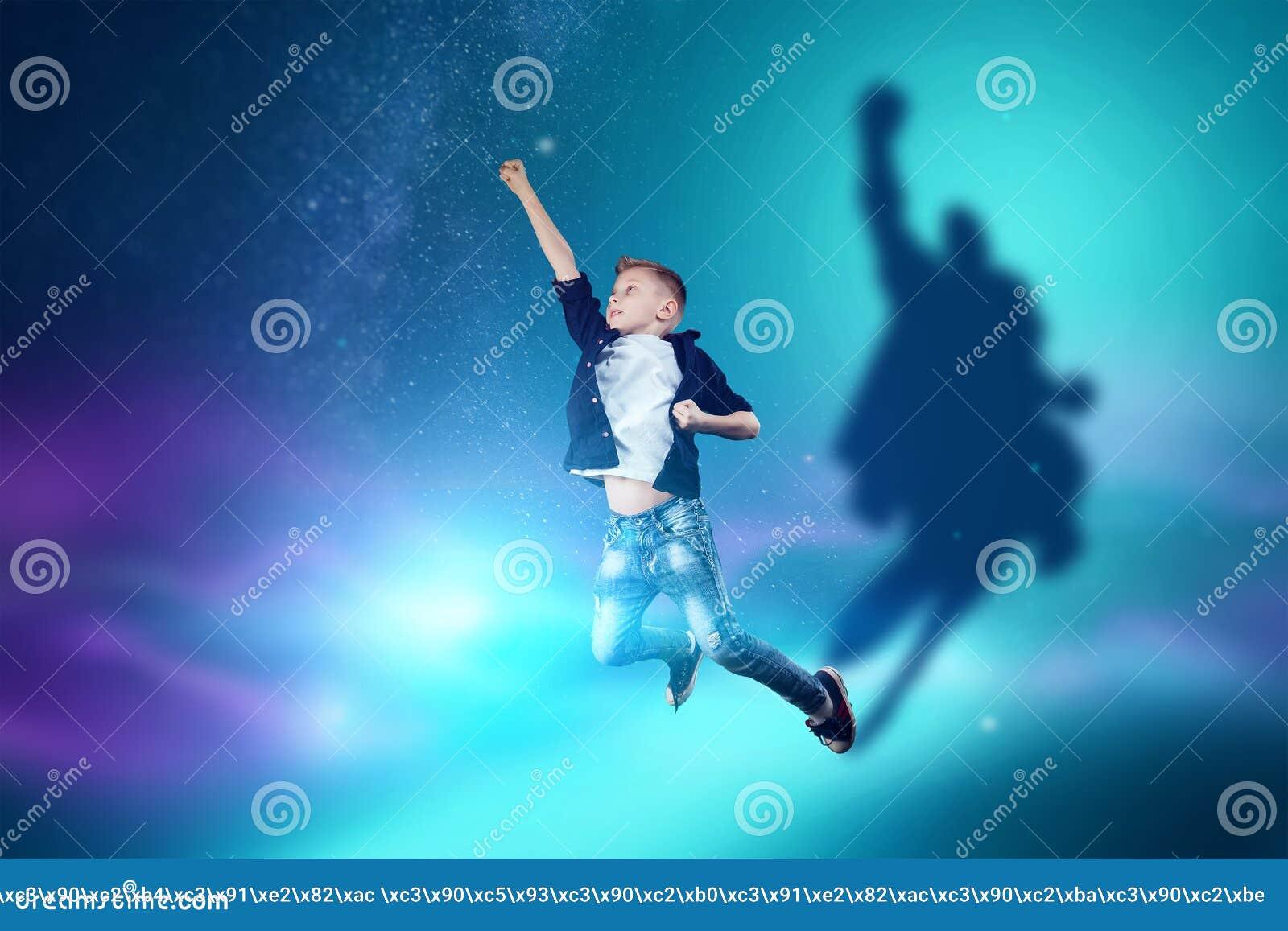 La scelta della professione, il futuro del bambino I sogni del ragazzo di trasformarsi in un superman Professione di concetto, er