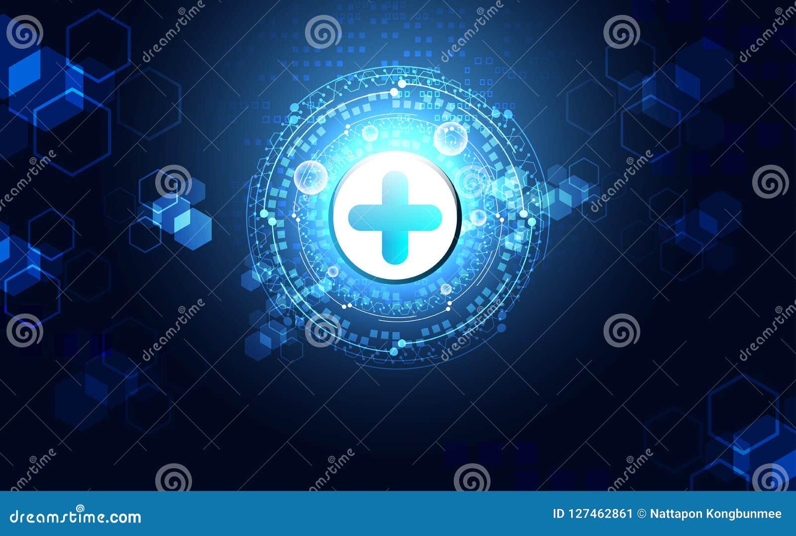 La science abstraite de santé consistent santé plus la technologie numérique c
