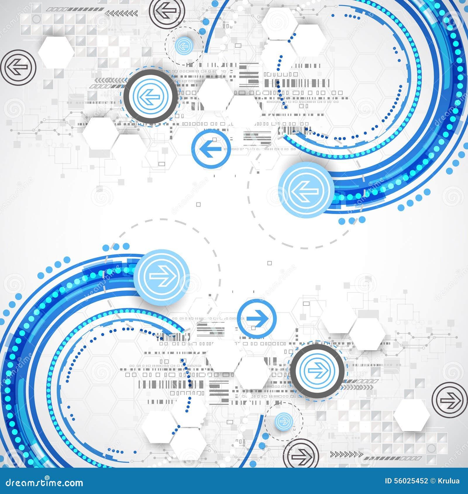 La science d affaires ou fond bleue abstraite de technologie