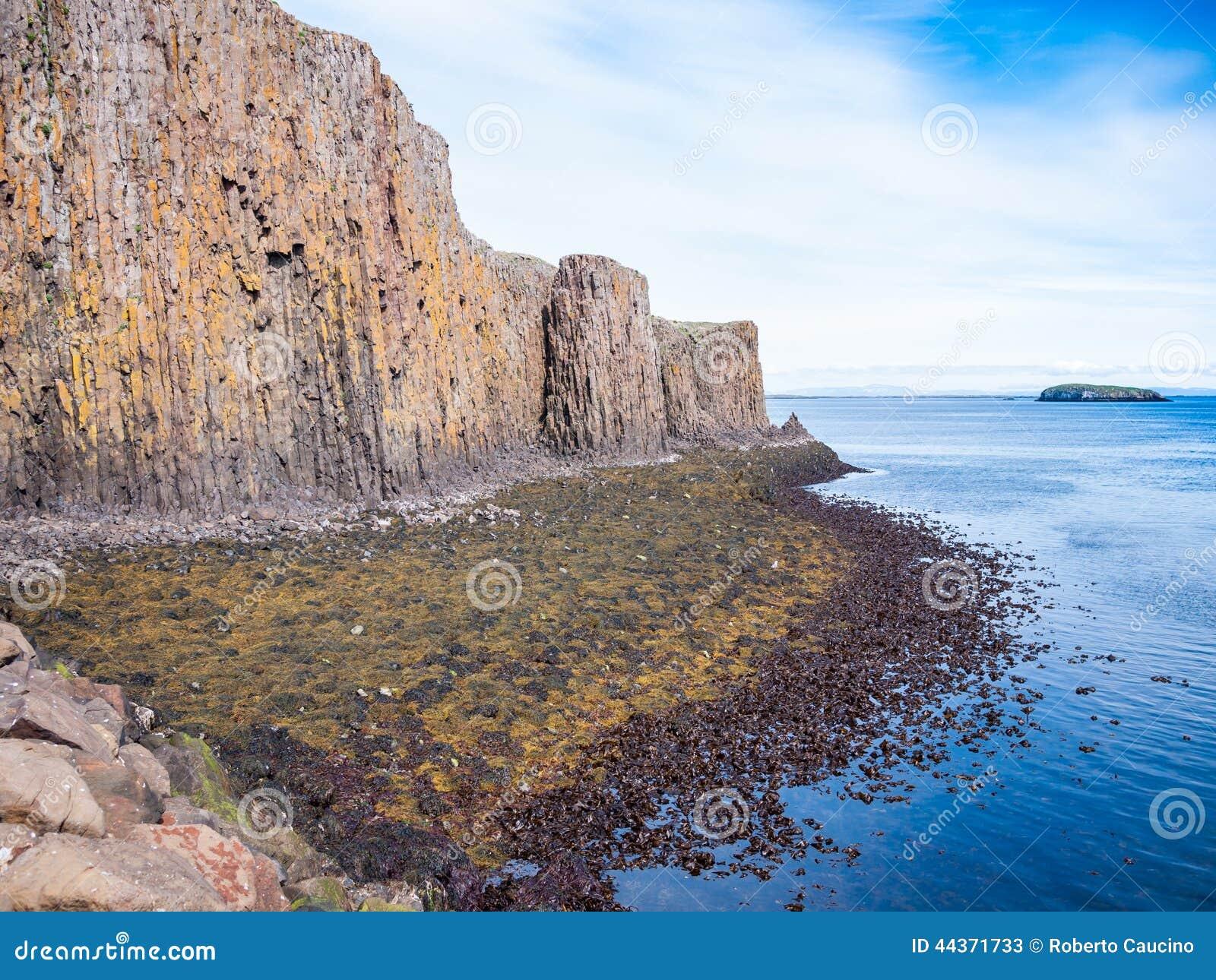 La scogliera del lmur del ³ di StykkishÃ, Islanda