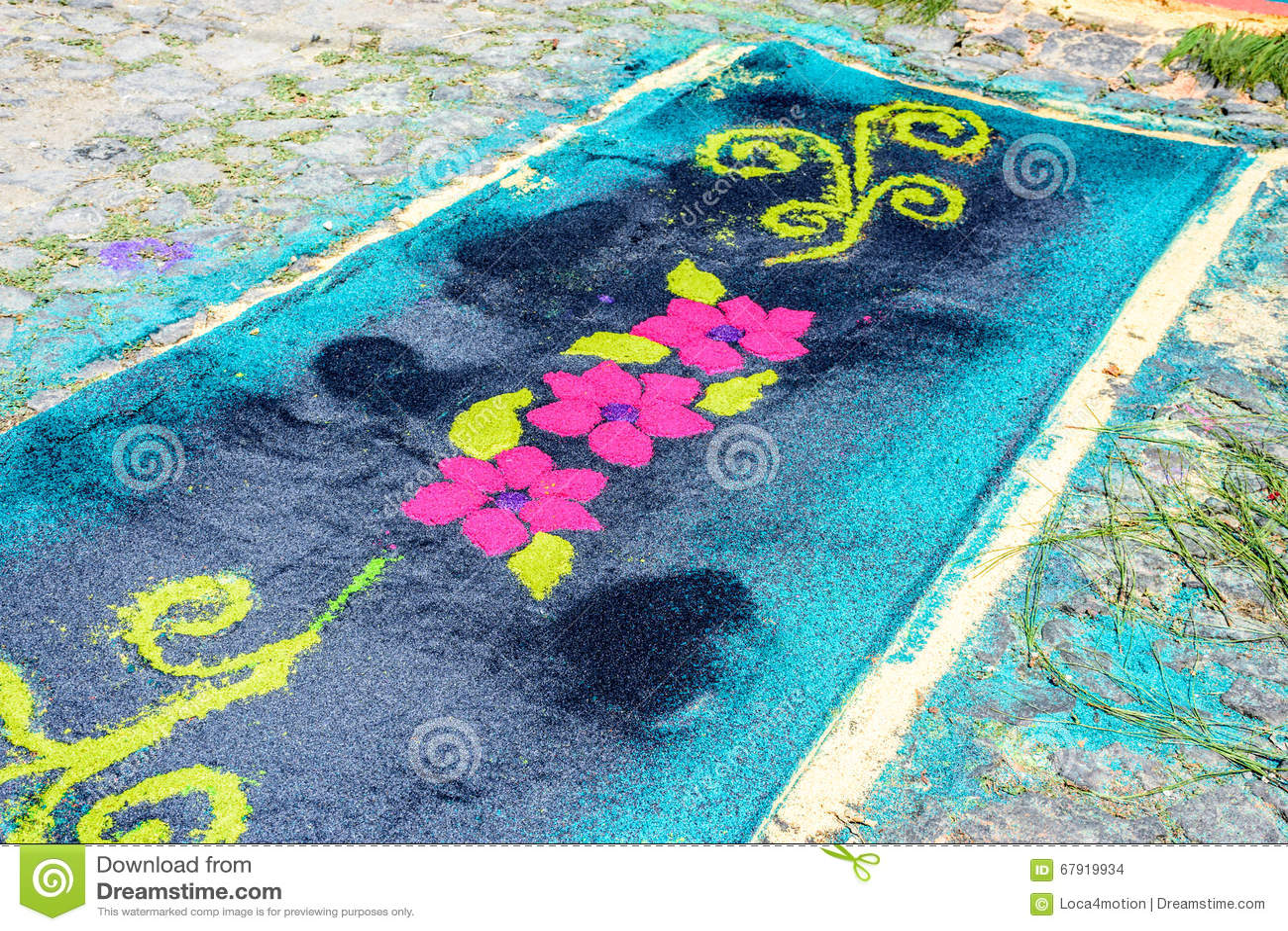 La Segatura Tinta Floreale Del Primo Piano Ha Prestato Il Tappeto