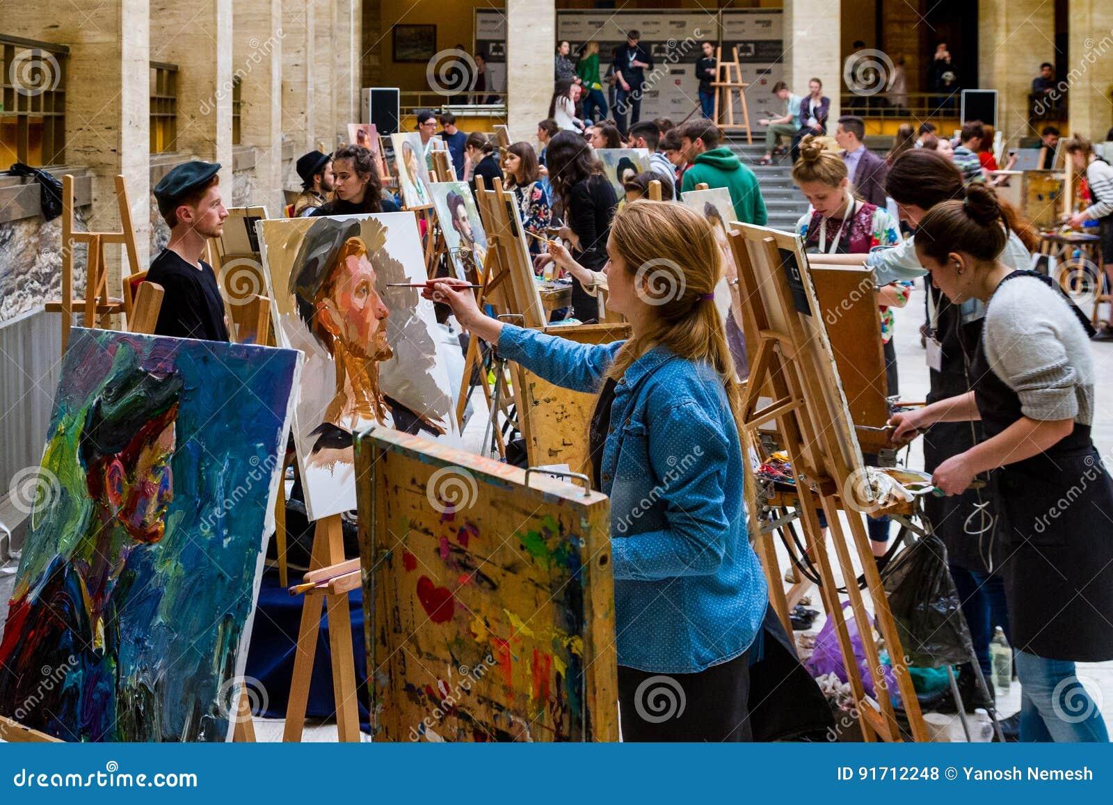La segunda plata totalmente ucraniana E de la competencia de la pintura del ` de los estudiantes