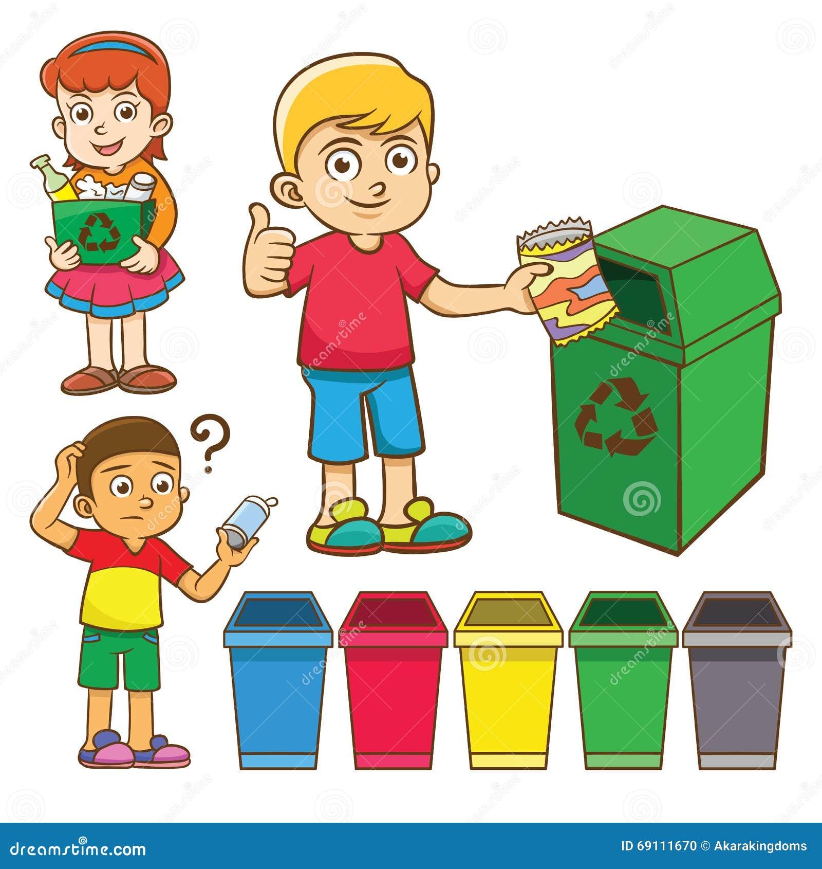 La Separación De La Basura Del Niño Para Recicla ...
