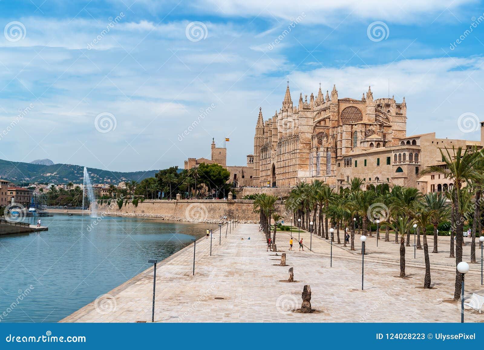 La Seu, domkyrkan av Palma de Mallorca - Balearic Island, Spanien