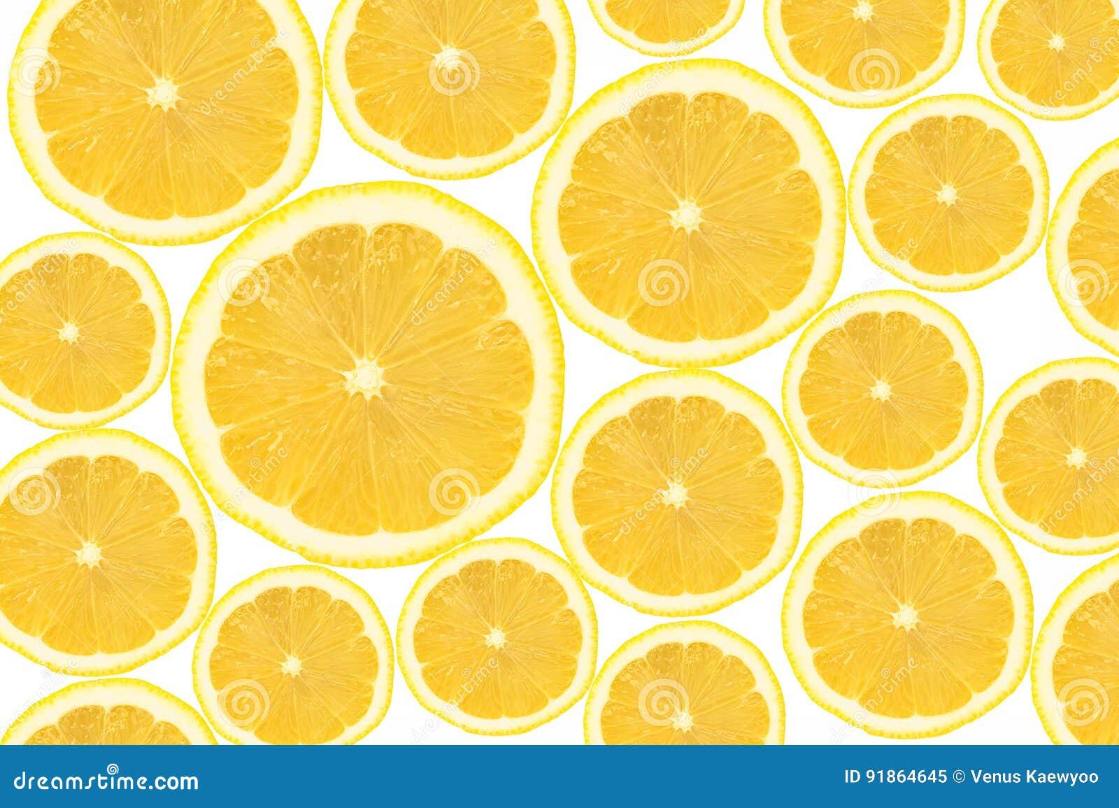 La sezione trasversale del limone affetta il fondo