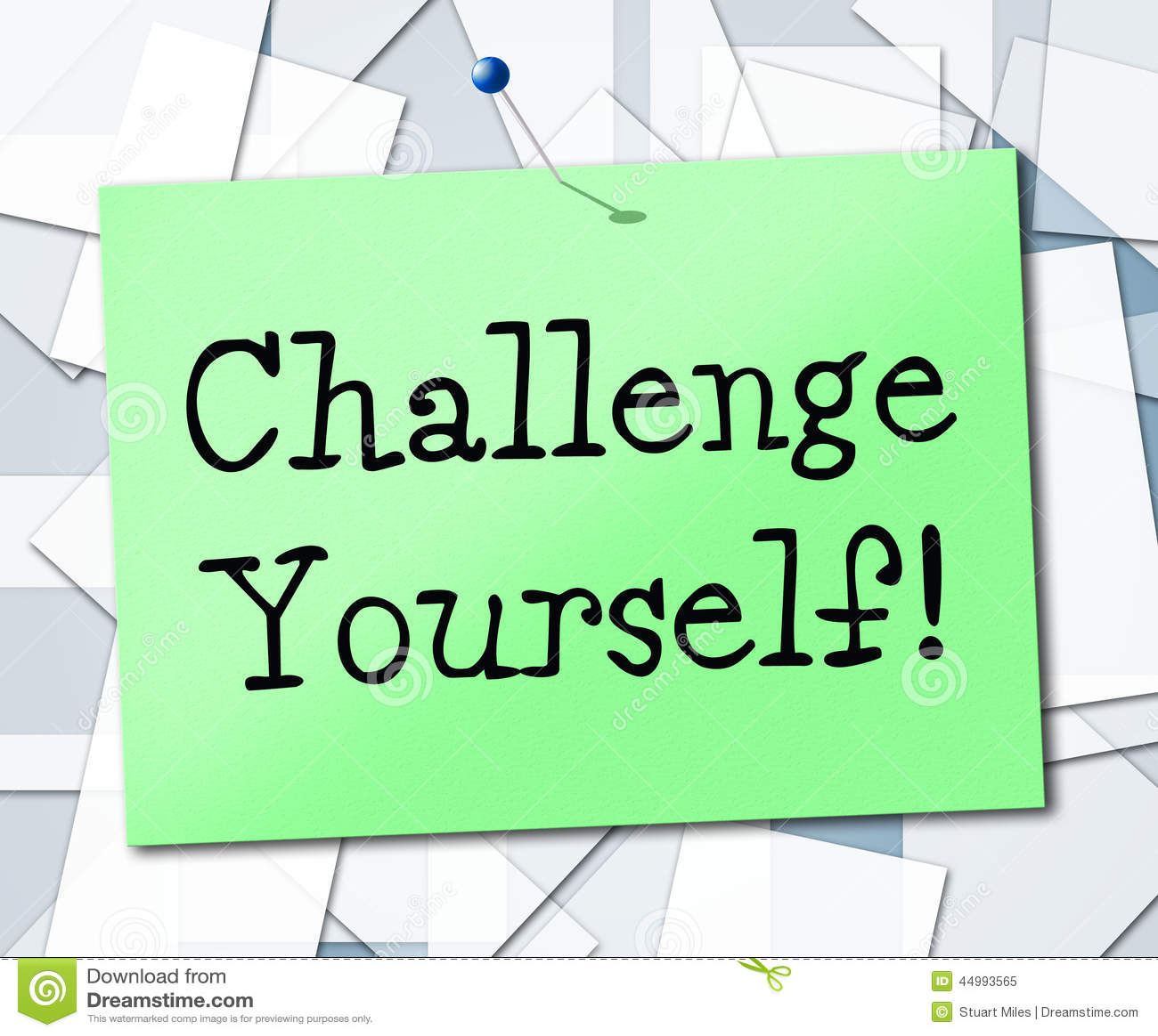 La sfida voi stessi significa l ambizione di incoraggiamento e determinata