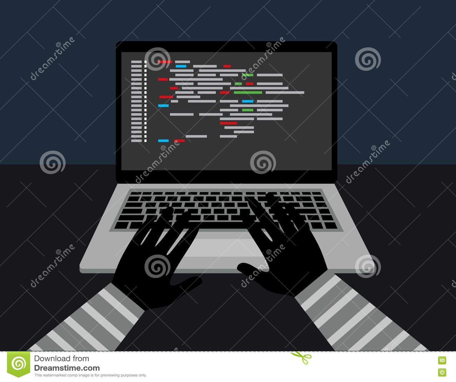La Sicurezza Del Pirata Informatico Ruba I Vostri Dati E ...