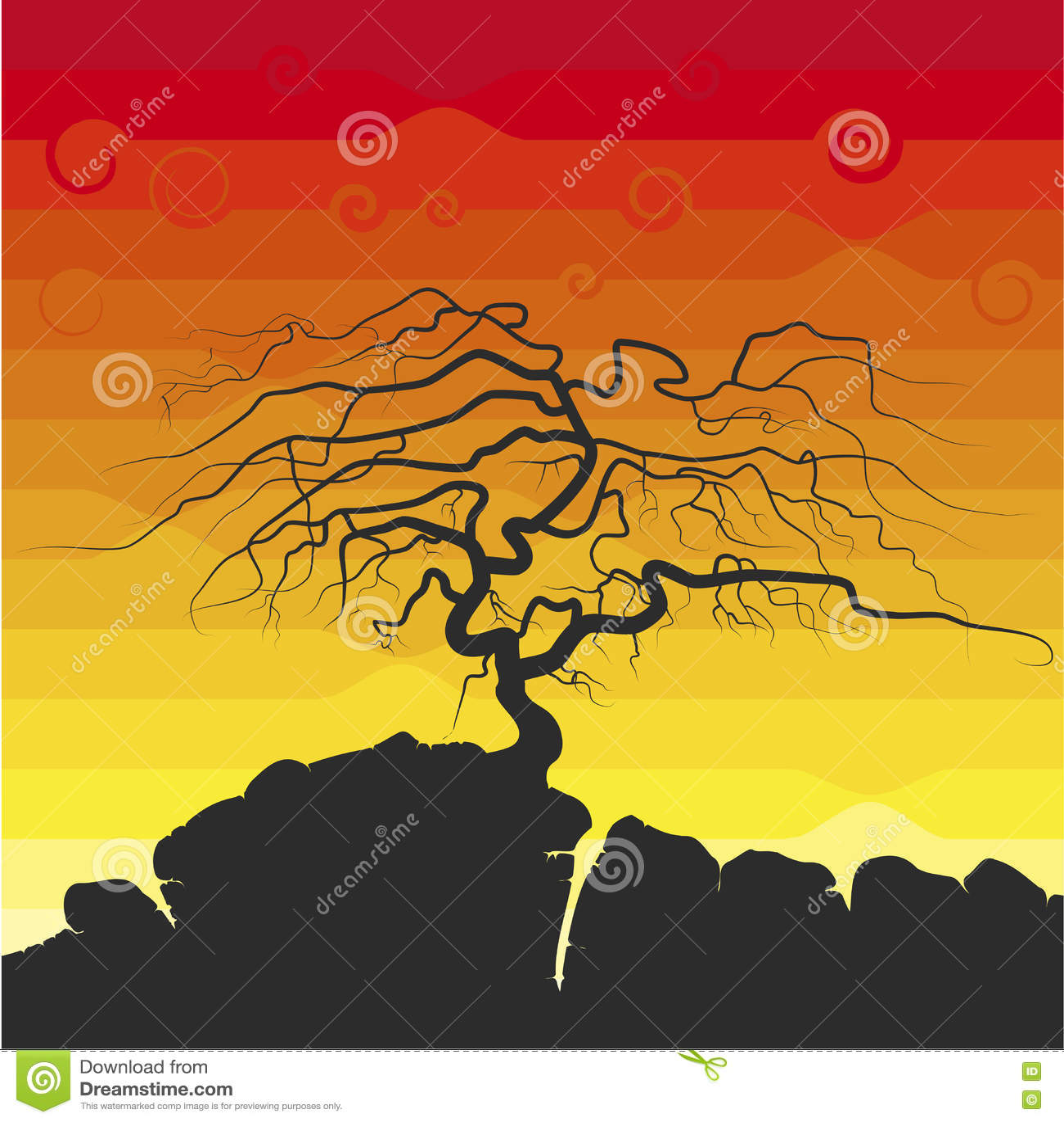 La siluetta dell albero