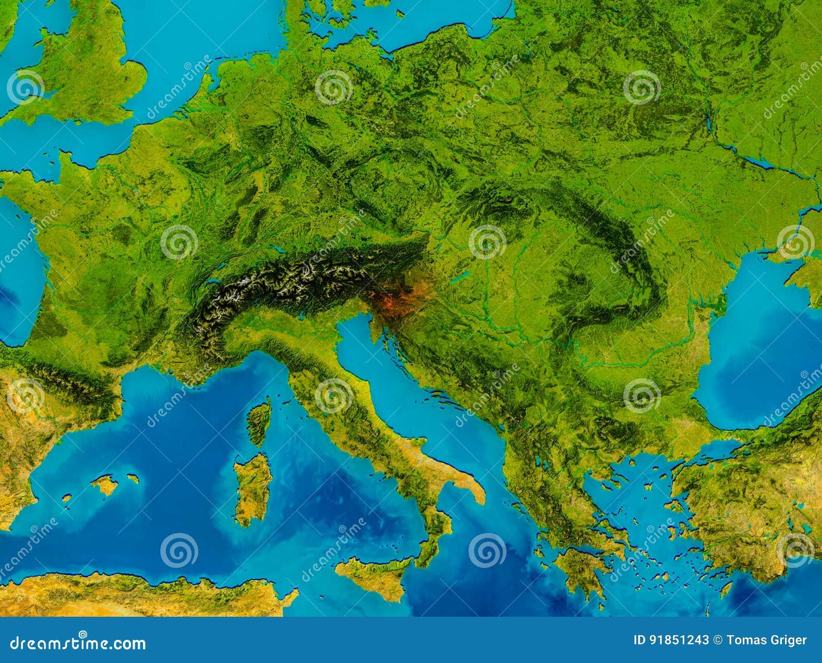 Cartina Slovenia Pdf.La Slovenia Sulla Mappa Fisica Illustrazione Di Stock Illustrazione Di Slovene Dettagliato 91851243
