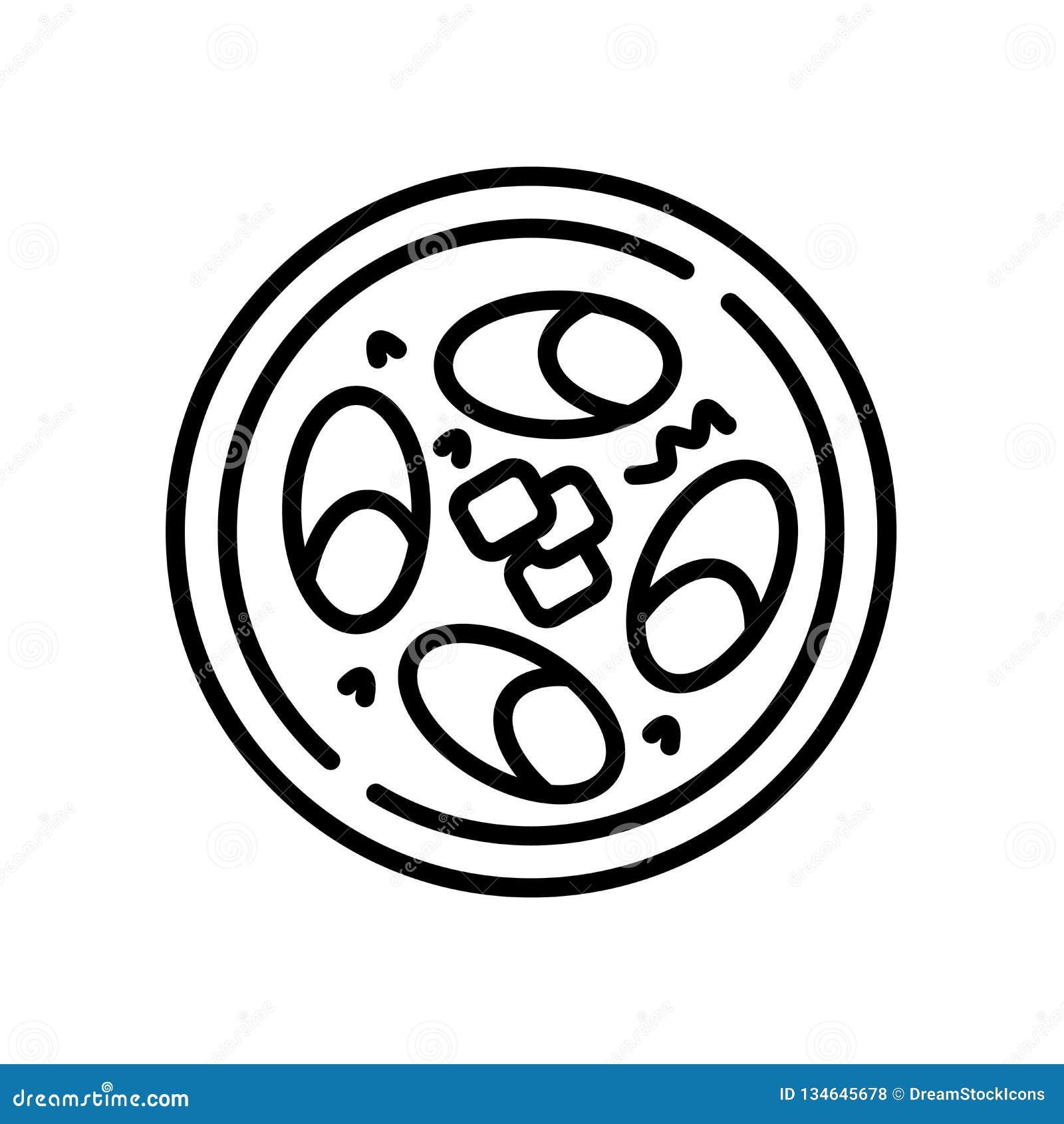 La soja eggs vector del icono aislada en el fondo blanco, huevos de la soja firma