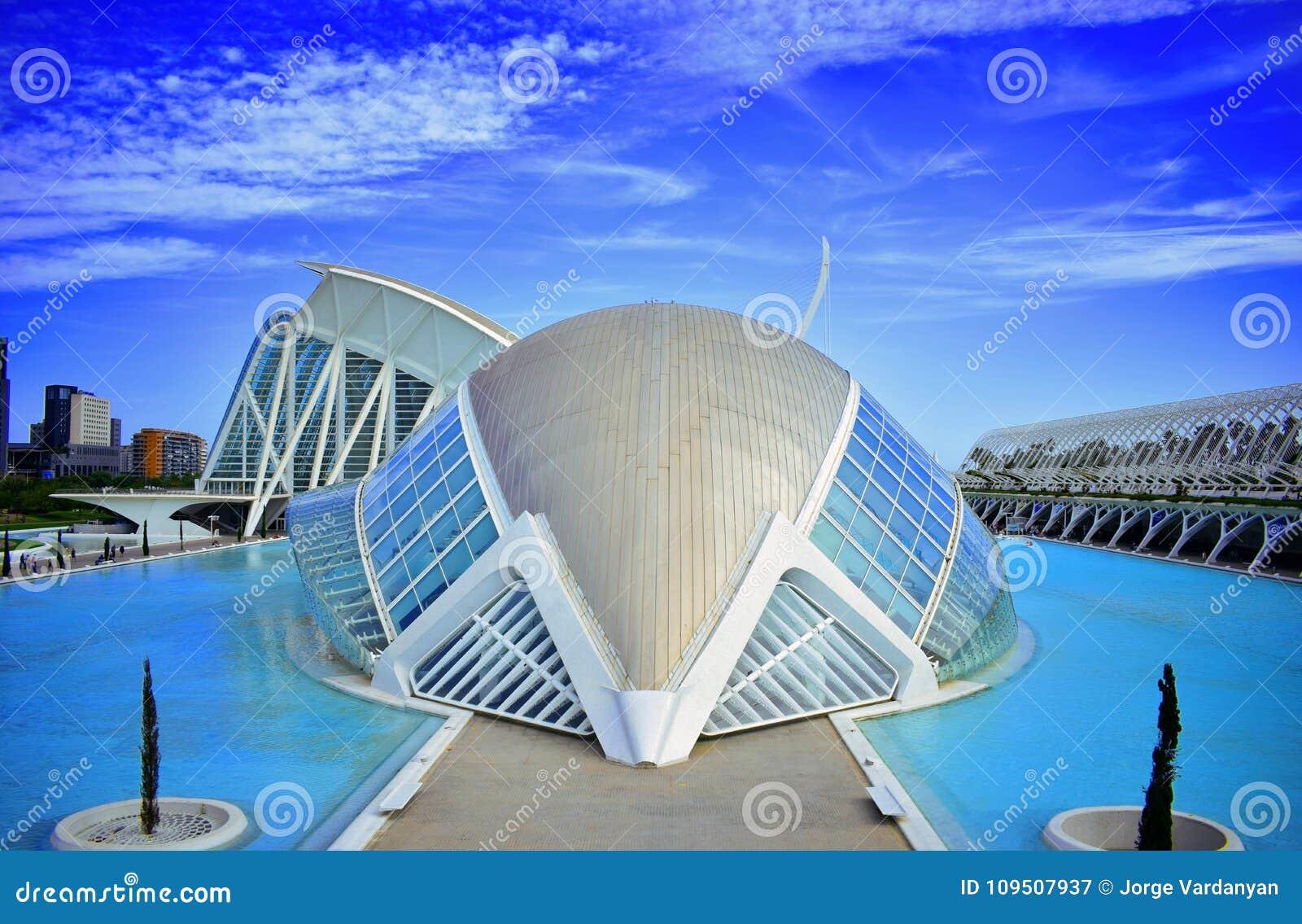 La Spagna, nuova Valencia, Santiago Calatrava, città delle scienze e delle arti, hemisferic, arte, nuova architettura