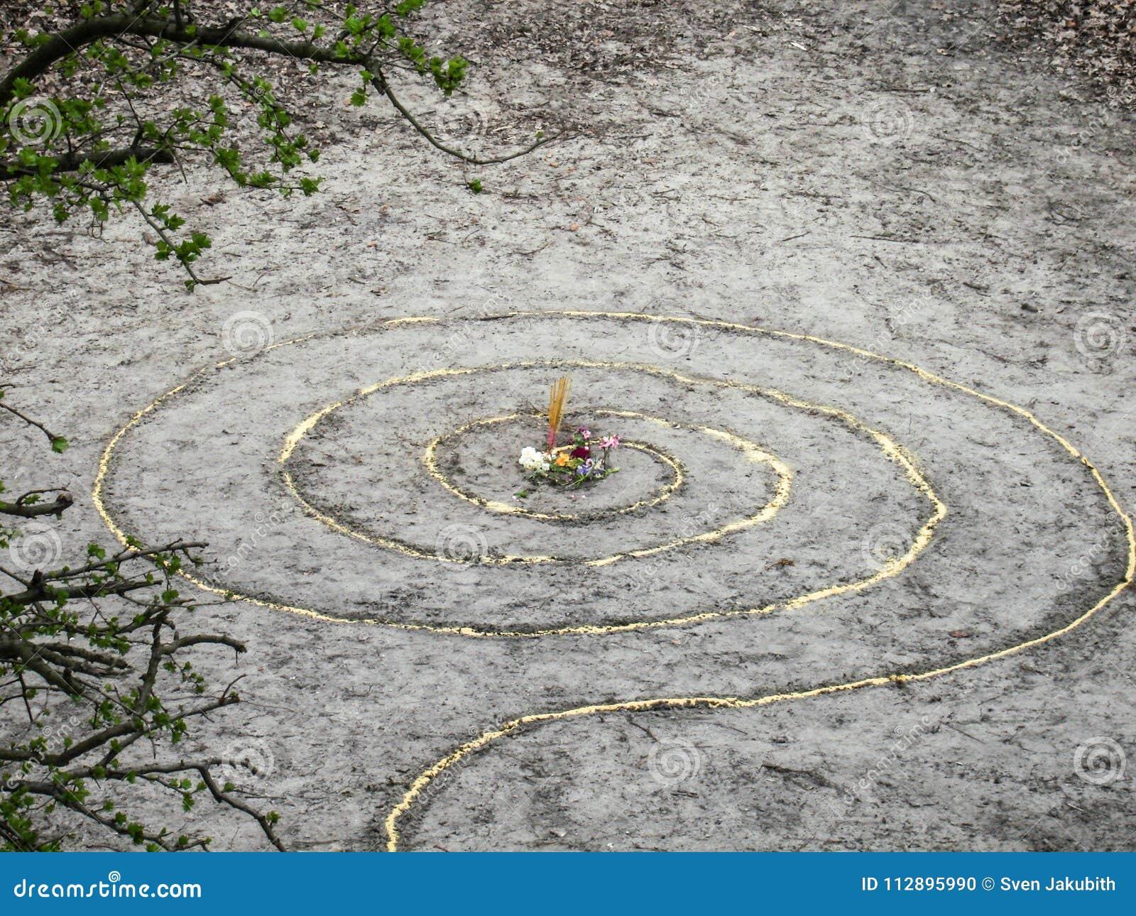 La spirale magique fonctionne l autel de wicca Religion païenne