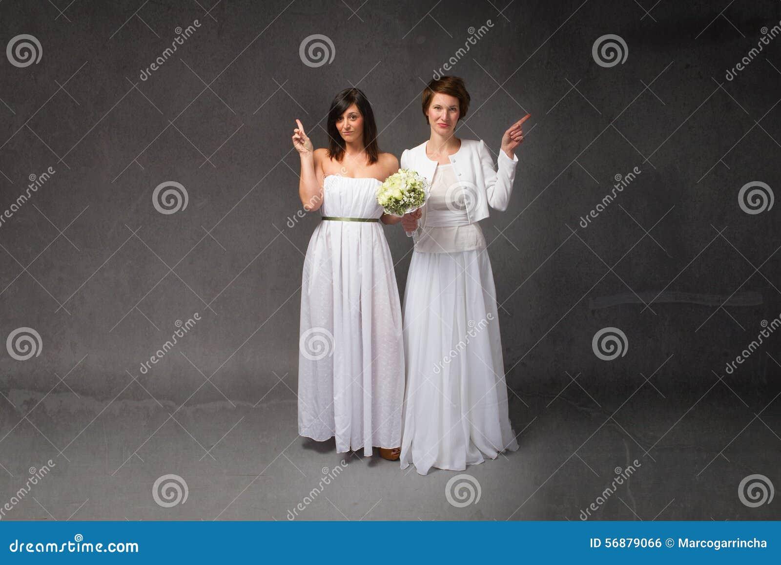 La sposa ha indicato lo spazio vuoto