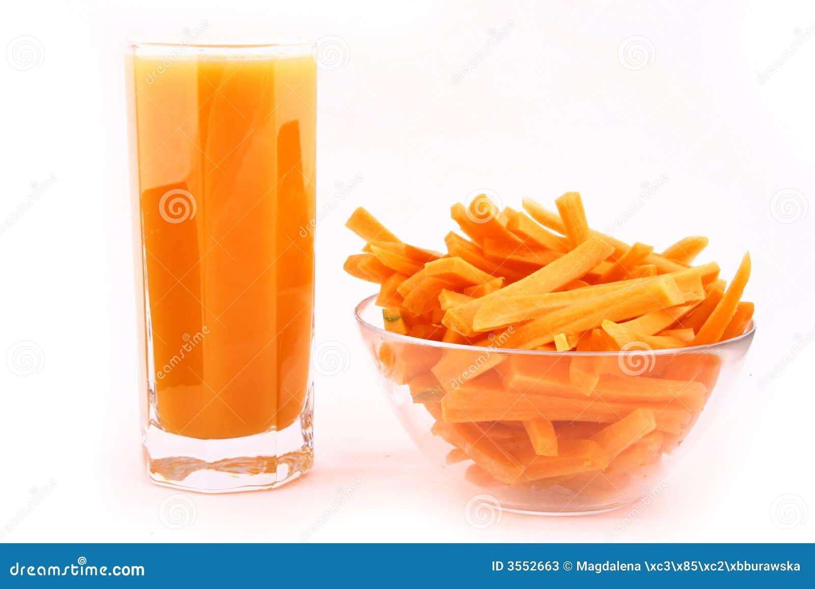 La spremuta di carota fresca ha isolato