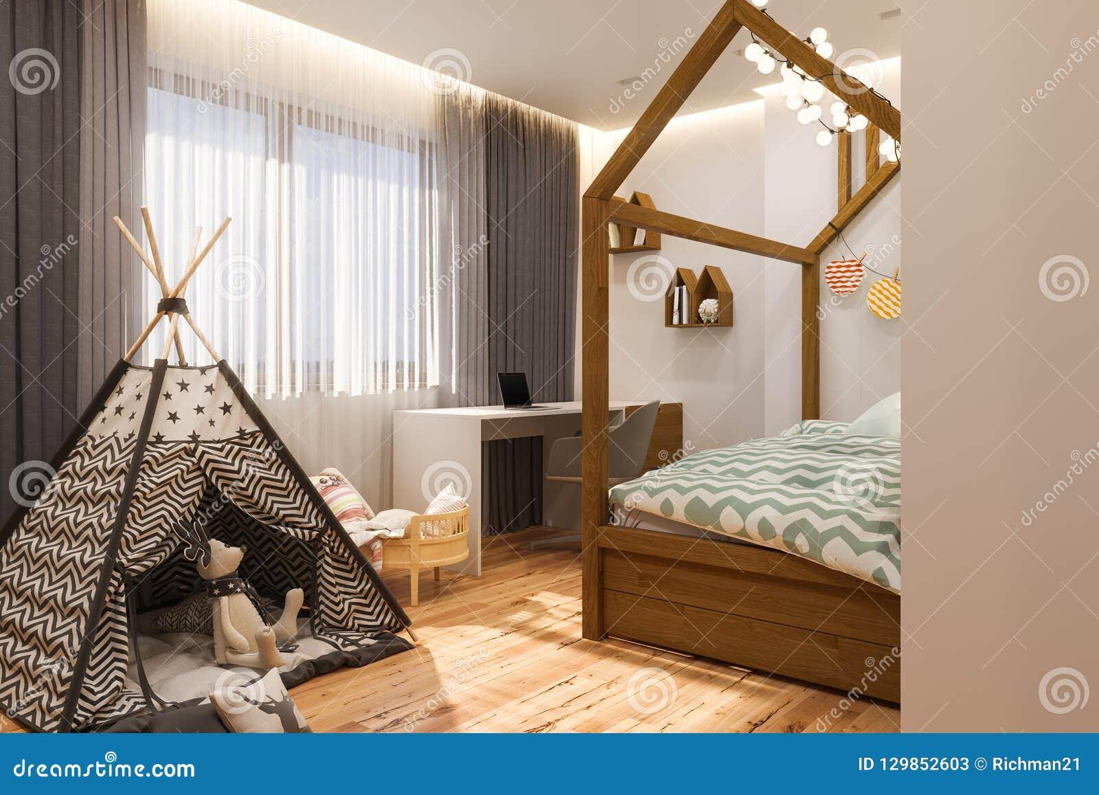 Camera Da Letto Bambino : La stanza dei giochi e la camera da letto dei bambini di interior