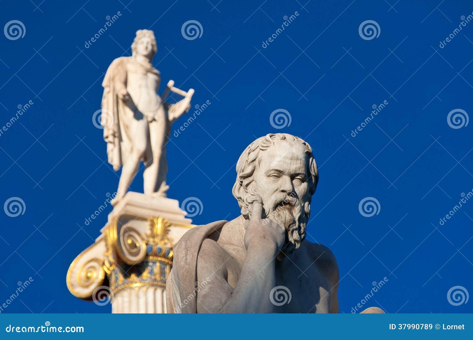 La statua di Socrates. Atene, Grecia.