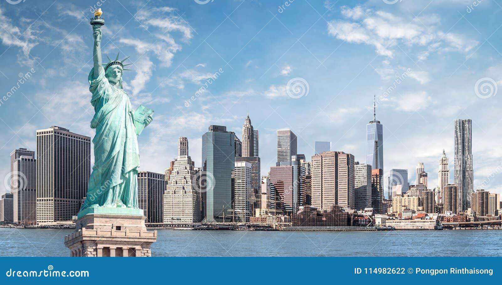 La statue de la liberté, points de repère de New York City