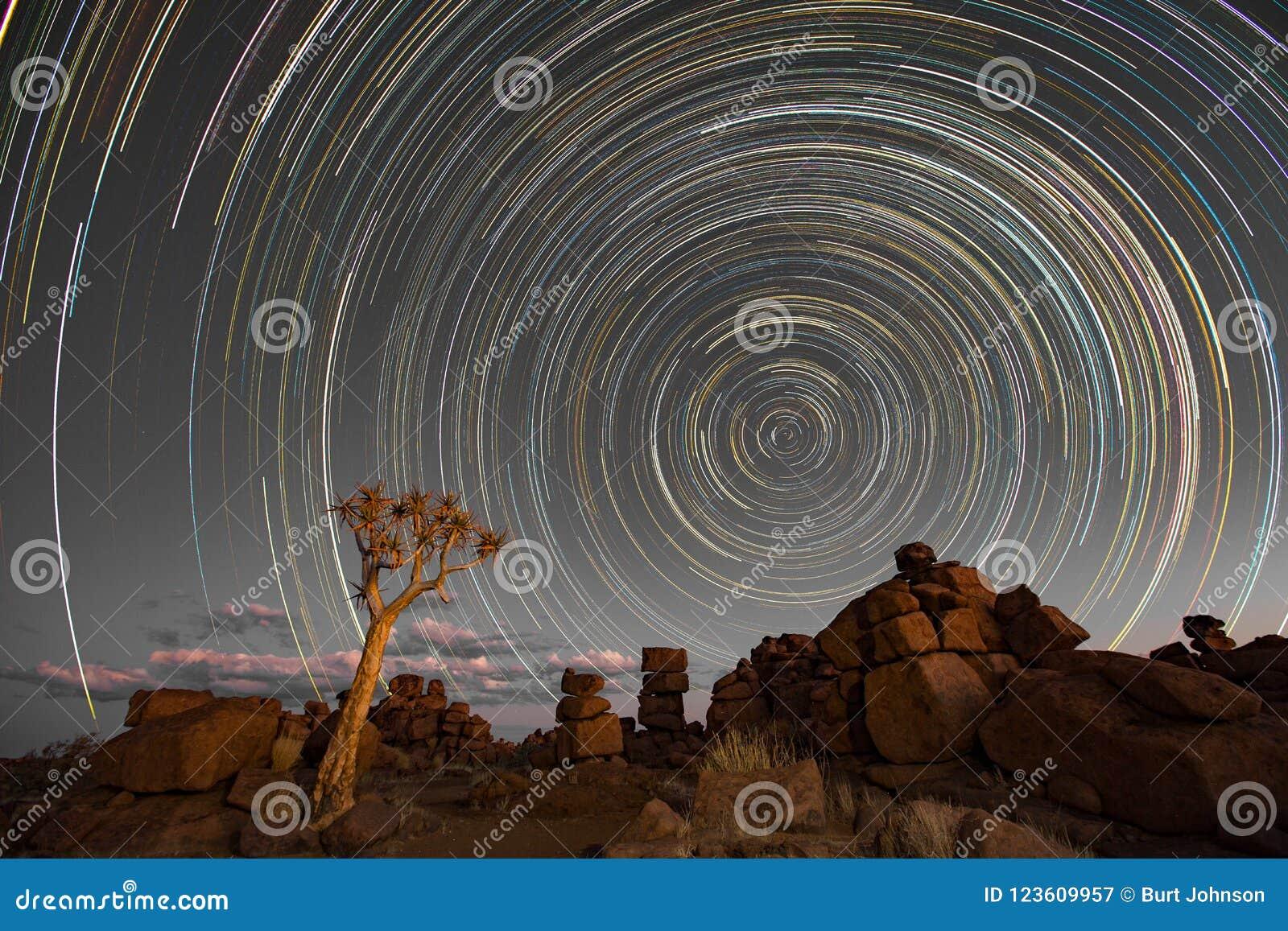 La stella trascina il cerchio sopra i quivertrees