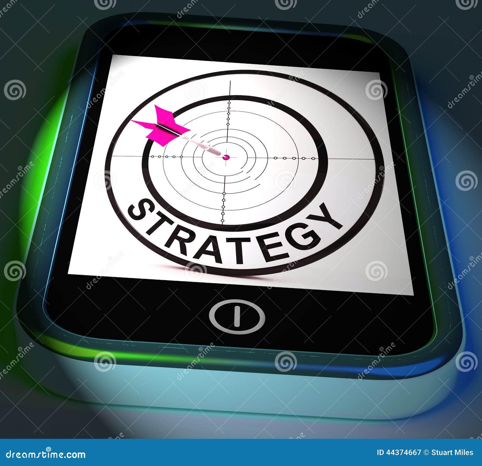 La strategia Smartphone visualizza le tattiche ed il piano tattico di metodi