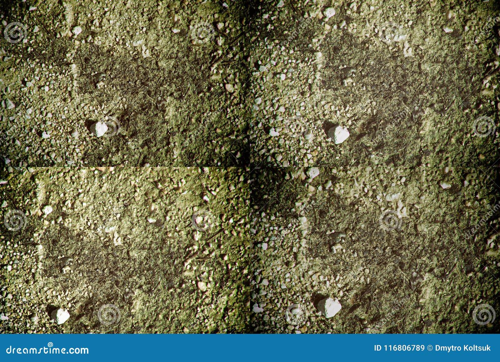 La struttura al suolo gradisce su Marte, la superficie della sabbia, fondo di pietra