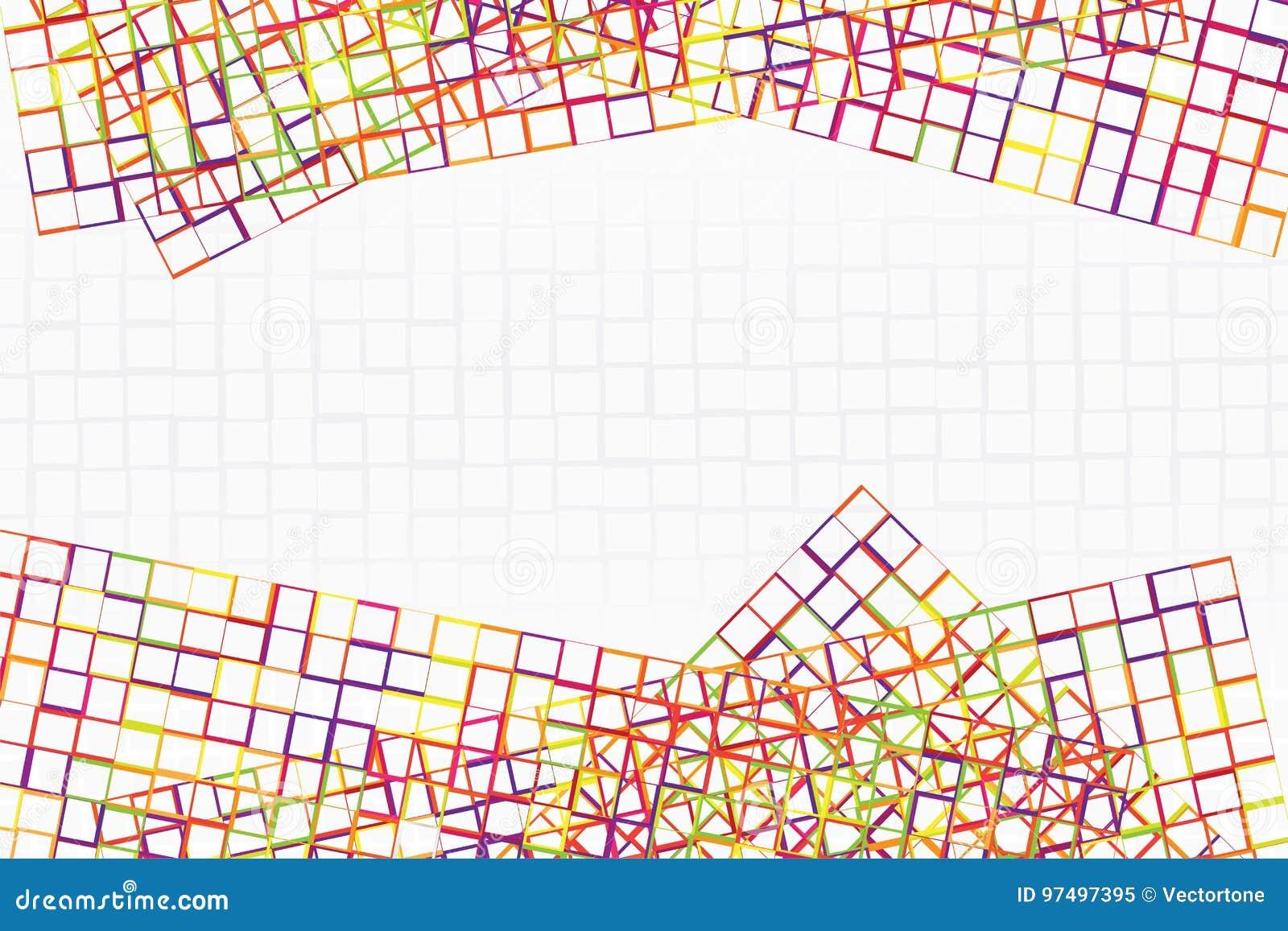 La struttura astratta della banda variopinta ed il quadrato modellano l incrocio insieme a spazio nel centro