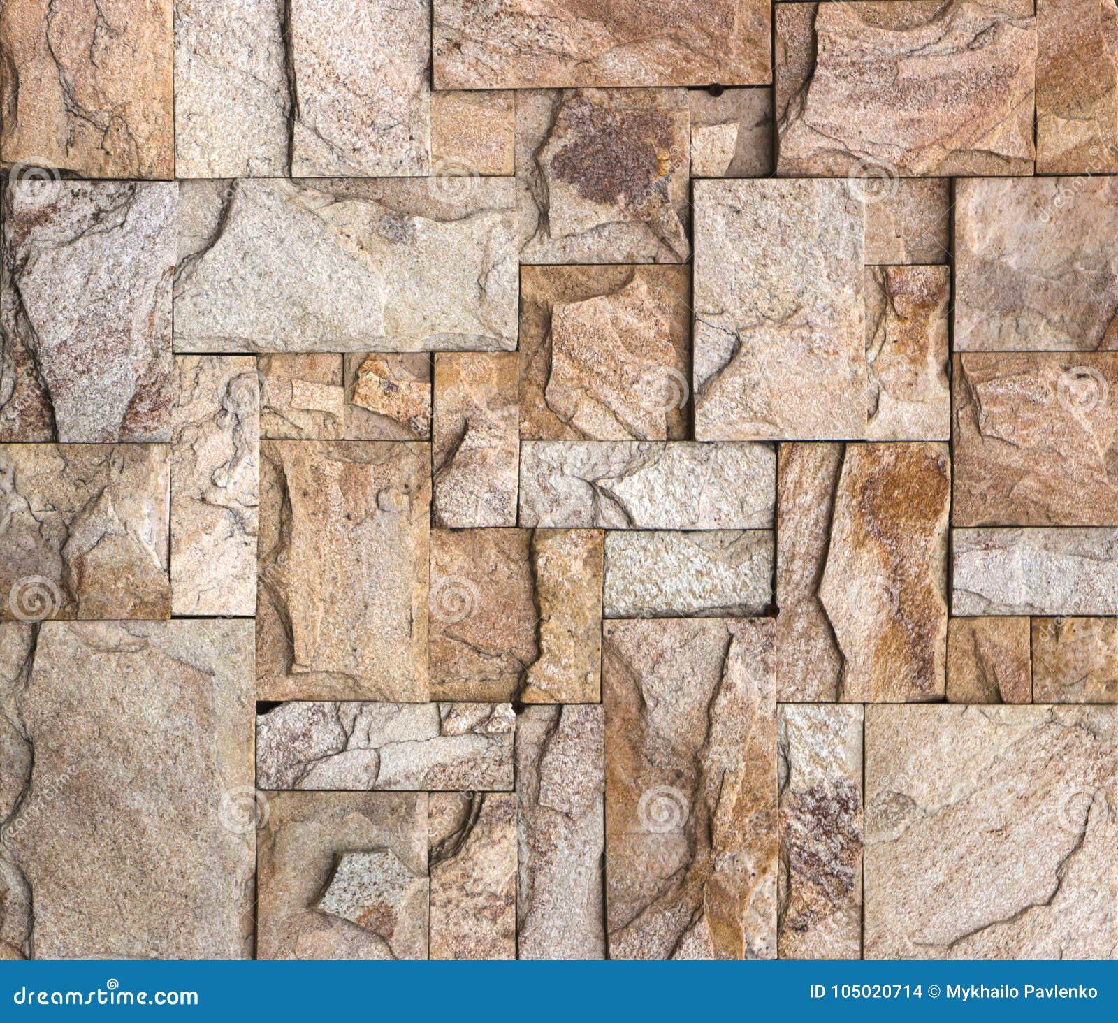 La struttura della parete di pietra, travertino piastrella l affronto