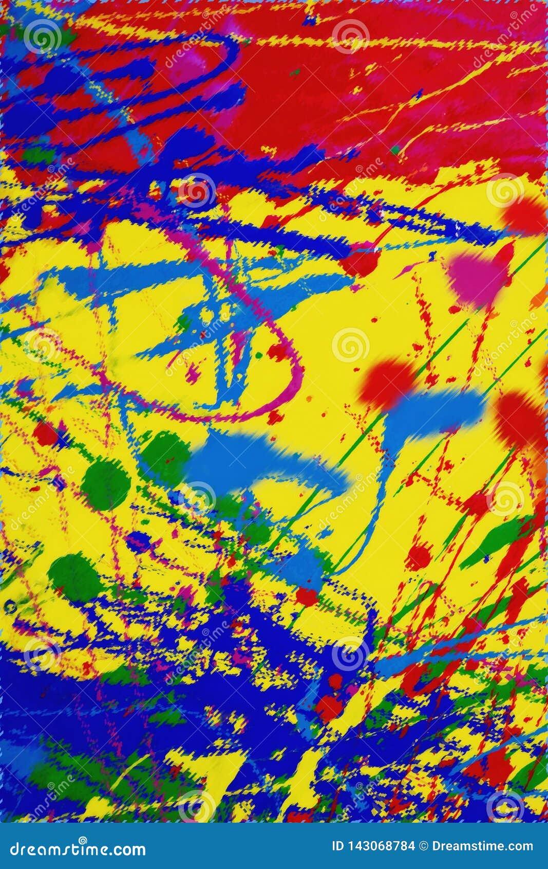 La struttura di spruzza delle pitture colorate multi