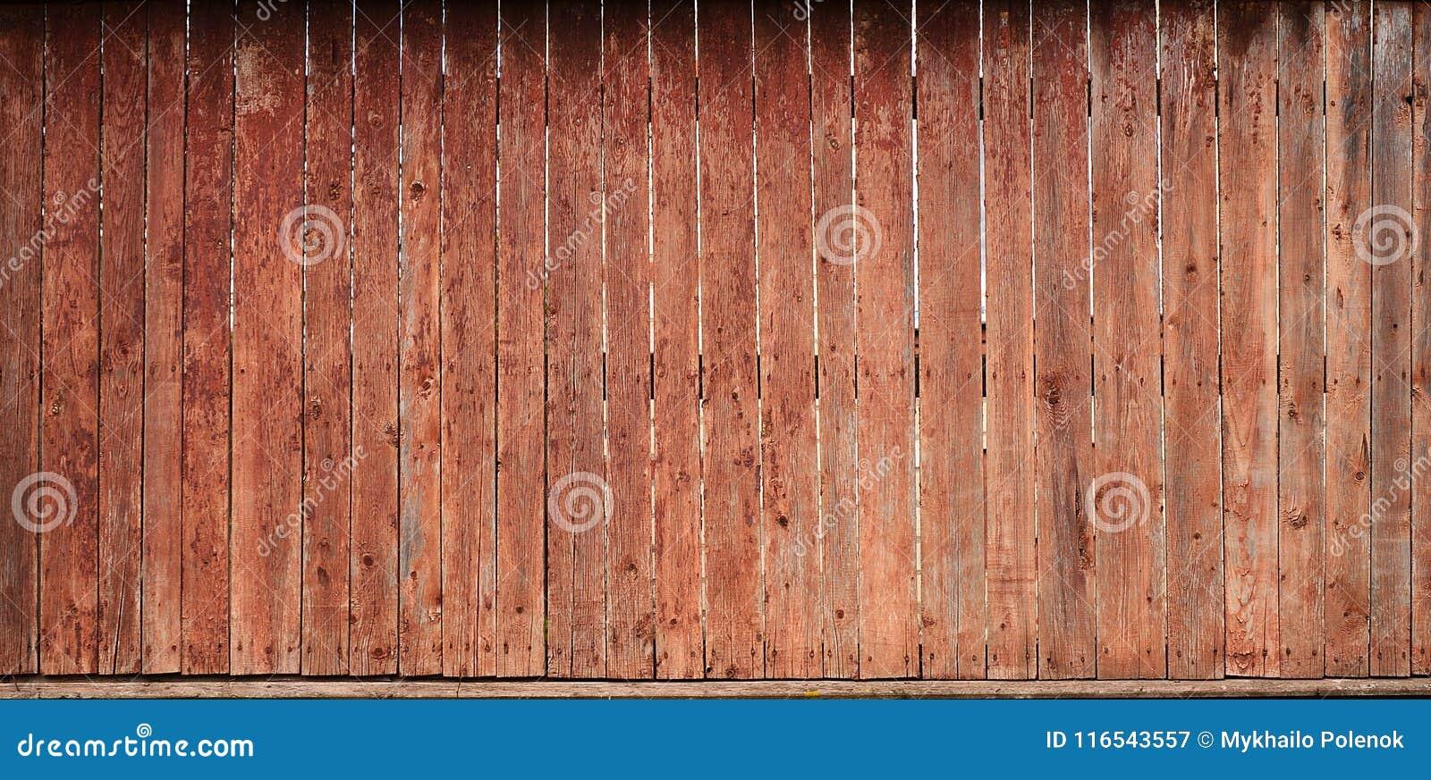 La struttura di vecchio recinto di legno rustico fatto del piano ha elaborato i bordi L immagine dettagliata di un recinto della