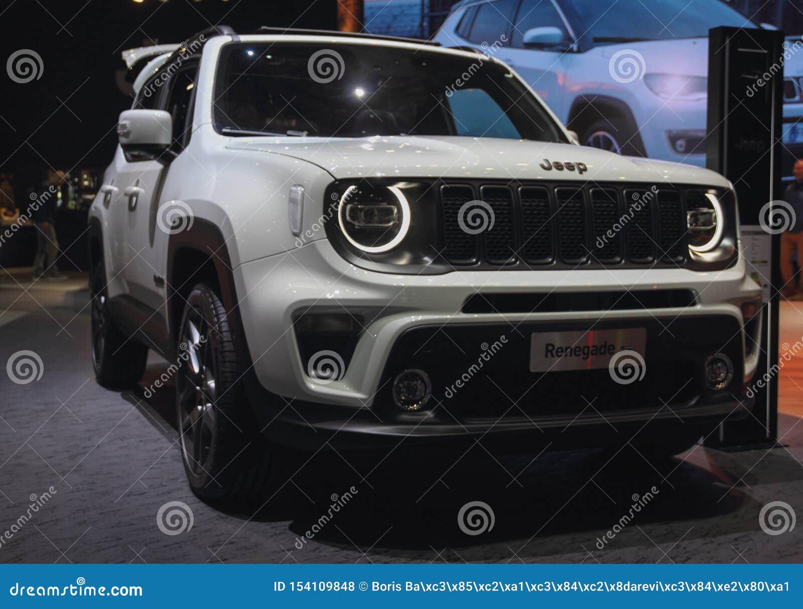 La Suisse ; Genève ; Le 11 mars 2019 ; Jeep Renegade ; Le quatre-vingt-dix-neuvième Salon de l Automobile international à Genève