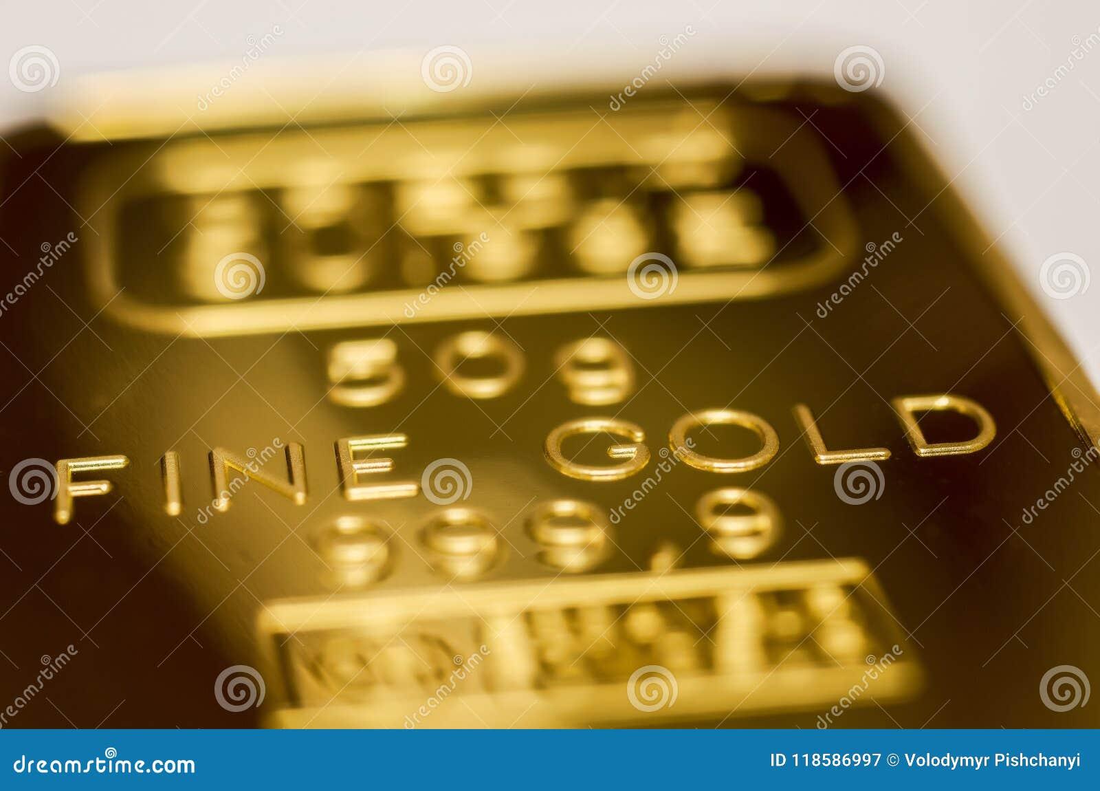 La surface du lingot d or La texture de la surface de la barre d or monnayée