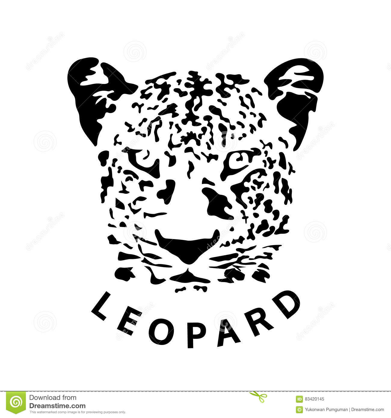 La Tete D Illustration Du Leopard Animal De Tatouage A Isole Le