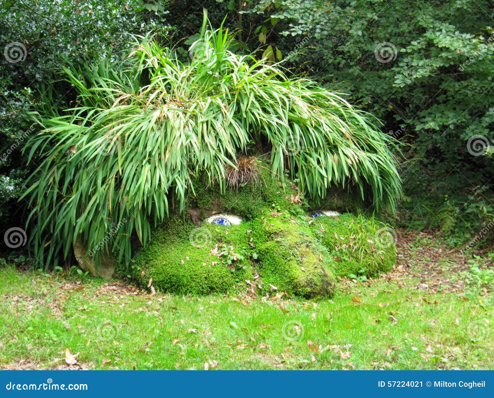 La tête du géant, jardins perdus de Heligan