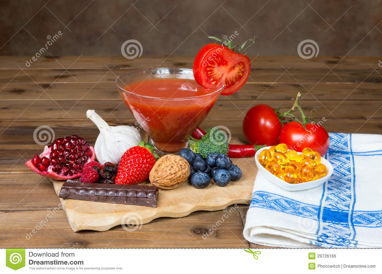 Antioxidantes en la tabla