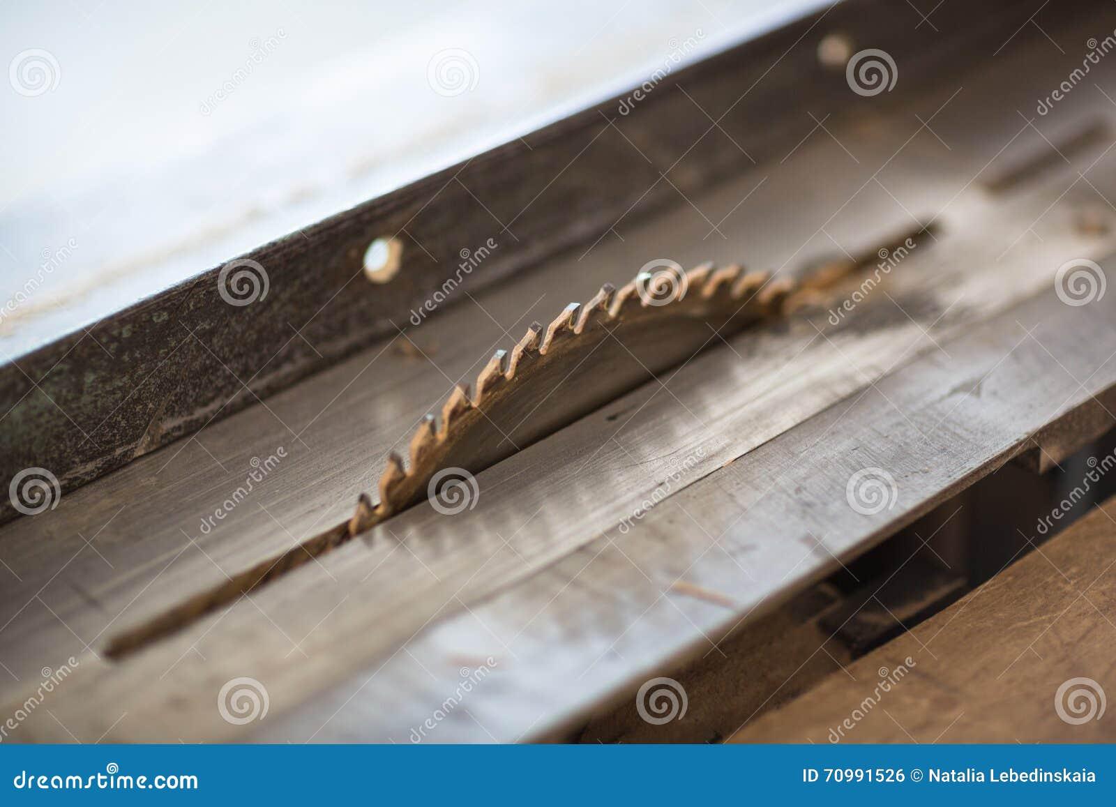 La tabla electrónica de la máquina vio, el trabajo de madera de la carpintería